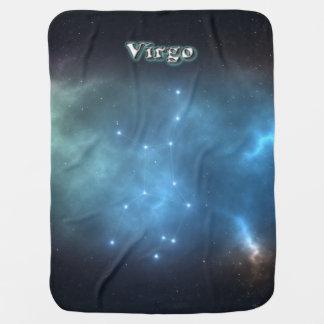 Virgo constellation baby blanket