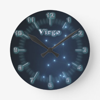 Virgo constellation round clock