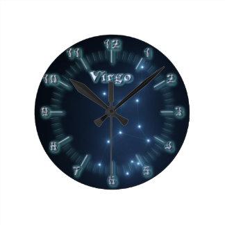 Virgo constellation round clock
