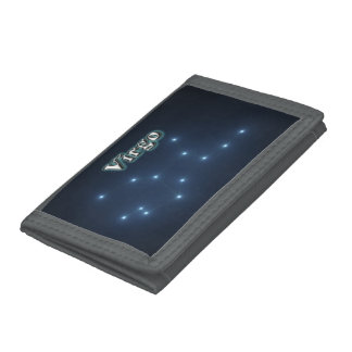 Virgo constellation trifold wallet