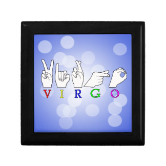 VIRGO FINGERSPELLED ASL NAME ZODIAC SIGN GIFT BOX