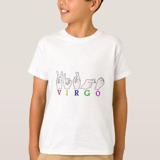 VIRGO FINGERSPELLED ASL NAME ZODIAC SIGN T-Shirt