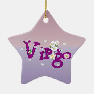 Virgo Flowers Ceramic Ornament