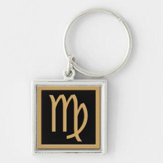 Virgo Gold Symbol Design Premium Keychain