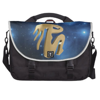Virgo golden sign laptop computer bag