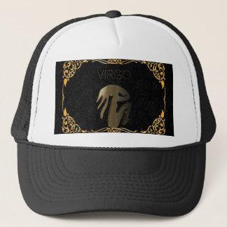 Virgo golden sign trucker hat
