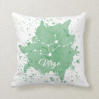 Virgo Green Pillow