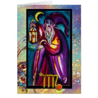 VIRGO HERMIT TAROT ASTROLOGY ZODIAC BIRTHDAY CARD