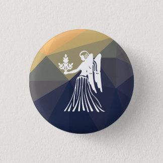 Virgo horoscope round button.Angel button