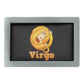 Virgo illustration belt buckles
