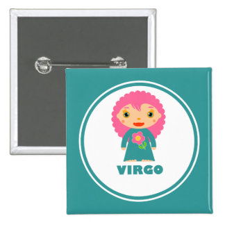 Virgo is my Zodiac Sign 2 Inch Square Button