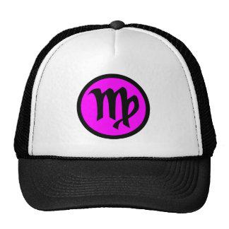 Virgo Magenta Black Circle Crest Trucker Hat