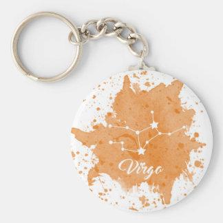 Virgo Orange Keychain