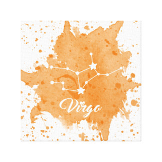 Virgo Orange Wall Art