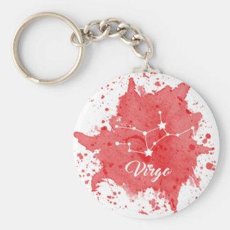 Virgo Red Keychain