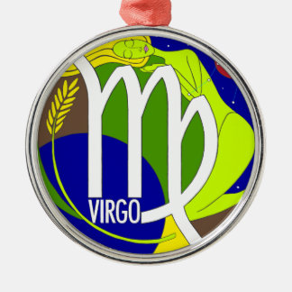 Virgo Round Ornament