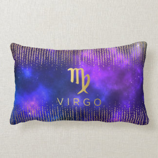 Virgo Sign Custom Name Lumbar Throw Pillow