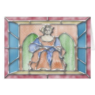 Virgo Stained Glass Birthday Card