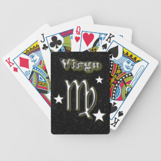 Virgo symbol bicycle playing cards