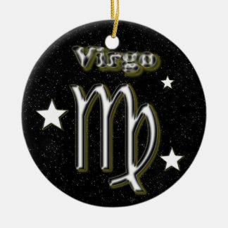 Virgo symbol ceramic ornament