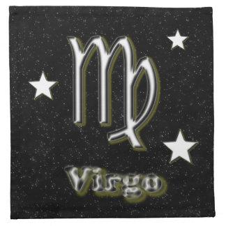 Virgo symbol napkin
