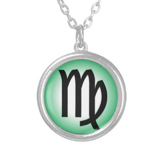 VIRGO SYMBOL SILVER PLATED NECKLACE