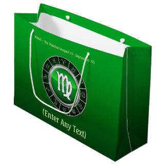 Virgo - The Maiden Zodiac Sign Large Gift Bag