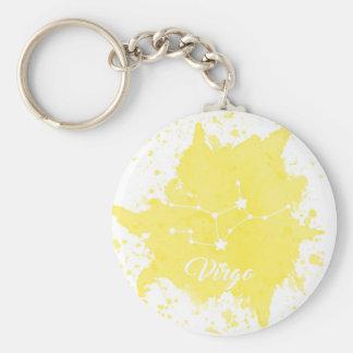 Virgo Yellow Keychain