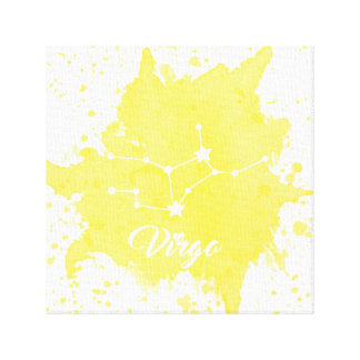 Virgo Yellow Wall Art