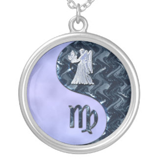 Virgo Yin Yang Silver Plated Necklace