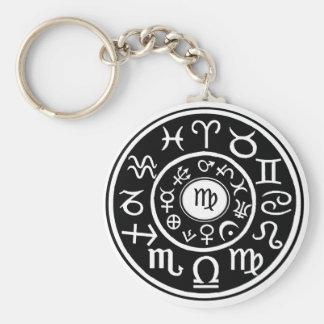 Virgo - Zodiac Astrological Constellation Basic Round Button Keychain