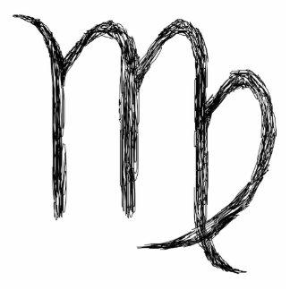 Virgo. Zodiac Astrology Sign. Black. Photo Cutout