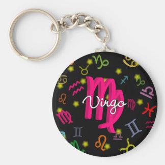 Virgo Zodiac Birthday Keychain
