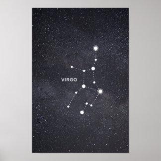 Virgo Zodiac Constellation Poster