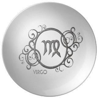 Virgo Zodiac Design Porcelain Plates