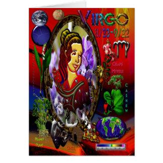 Virgo Zodiac Greeting Card Characteristic