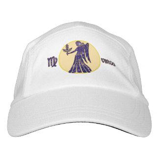 Virgo Zodiac Knit Performance Hat, White Cap