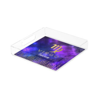 Virgo Zodiac Sign Acrylic Chic Perfume Tray