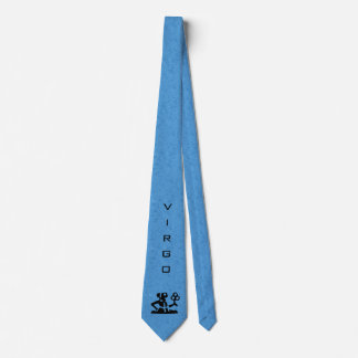 Virgo Zodiac Sign and Name Blue Tie