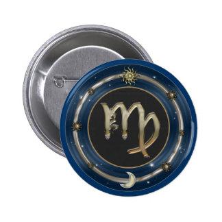Virgo Zodiac Sign Pins