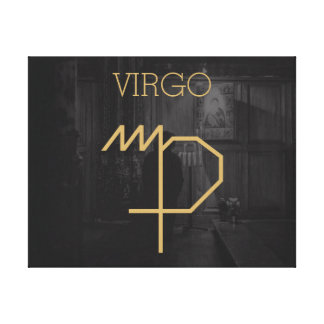 Virgo Zodiac Sign | Custom Background + Text