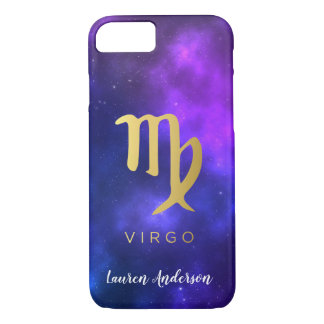Virgo Zodiac Sign Custom Name IPhone Case