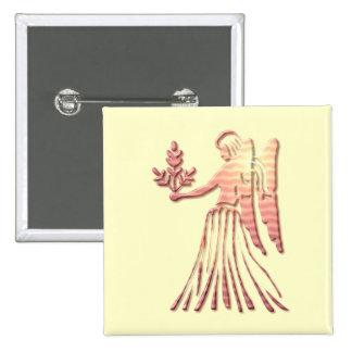 Virgo Zodiac Square Pin