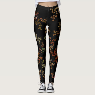 Virtual autumn Background Custom Legging