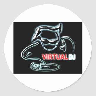 virtual Dj Classic Round Sticker