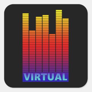 Virtual levels. square sticker