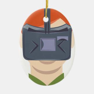 Virtual Reality Ceramic Ornament