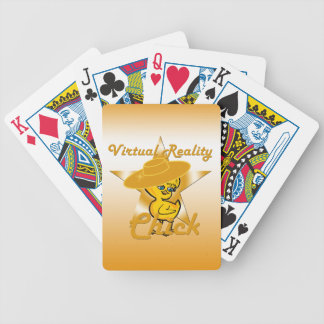 Virtual Reality Chick #10 Bicycle Playing Cards