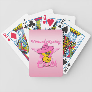 Virtual Reality Chick #8 Bicycle Playing Cards