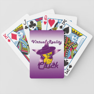 Virtual Reality Chick #9 Bicycle Playing Cards
